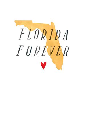 Florida Forever Hurricane Relief Blank Card