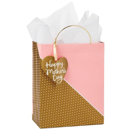 1f0ee368746 Pink and Gold Mother s Day Medium Gift Bag With Tissue and Tag