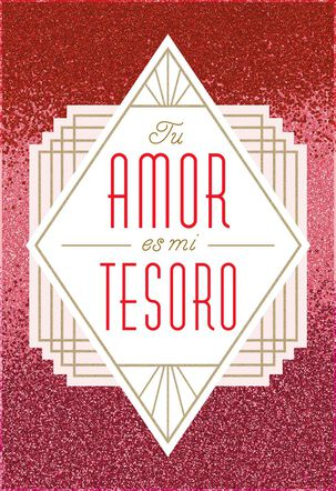 Celebrating Our Love Spanish-Language Valentine's Day Card