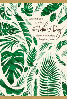 UNICEF Palm Branches Father's Day Card,