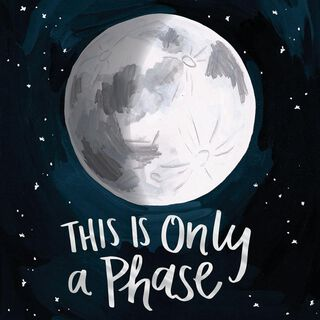 Moon Phase Encouragement Card,