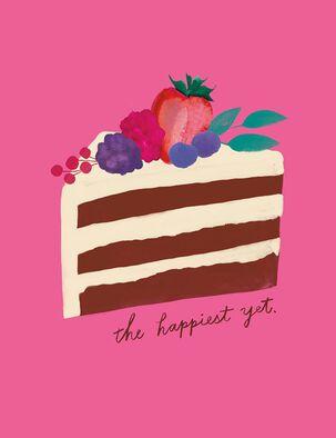 Happiest Yet Layer Cake Birthday Card