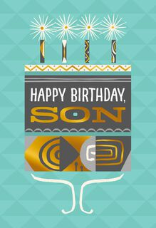 You Are Loved and Celebrated Birthday Card for Son,