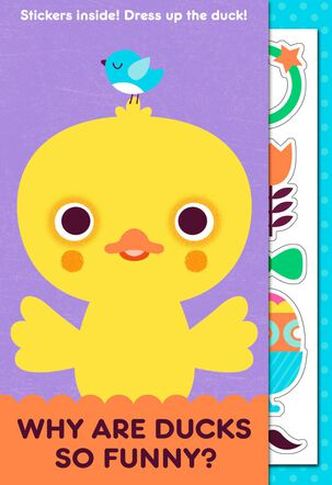 Funny Duck Joke Kid's Easter Card With Stickers