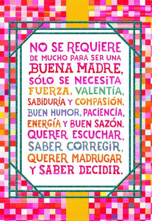 Colorful Squares Spanish-Language Mother's Day Card for Sister