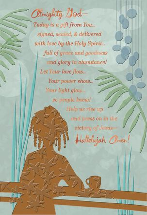 Overflowing Blessings Religious Thinking of You Card