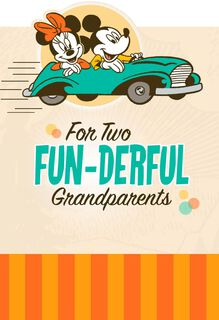 Mickey and Minnie We Love You Grandparents Day Card,