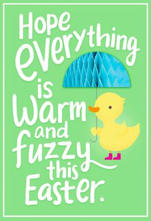 Warm and Fuzzy Duckling Funny Easter Card for Kid,