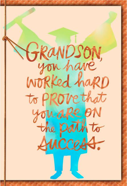 Path To Success Grandson Graduation Card Greeting Cards Hallmark