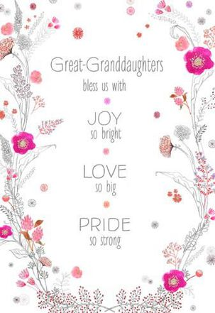 Great-Granddaughters Bless Us Valentine's Day Card