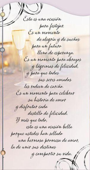 Celebrate Your Love Story Spanish-Language Wedding Card