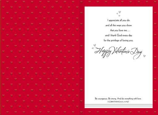 For the Man I Love Religious Valentine's Day Card,