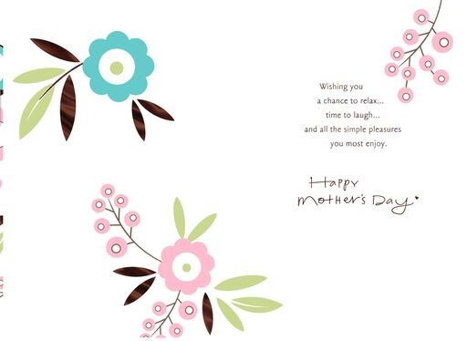 Simple Pleasures Mother's Day Card,