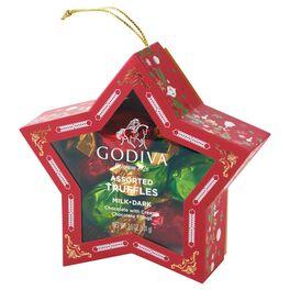 Godiva Holiday Truffle Star Ornament, , large