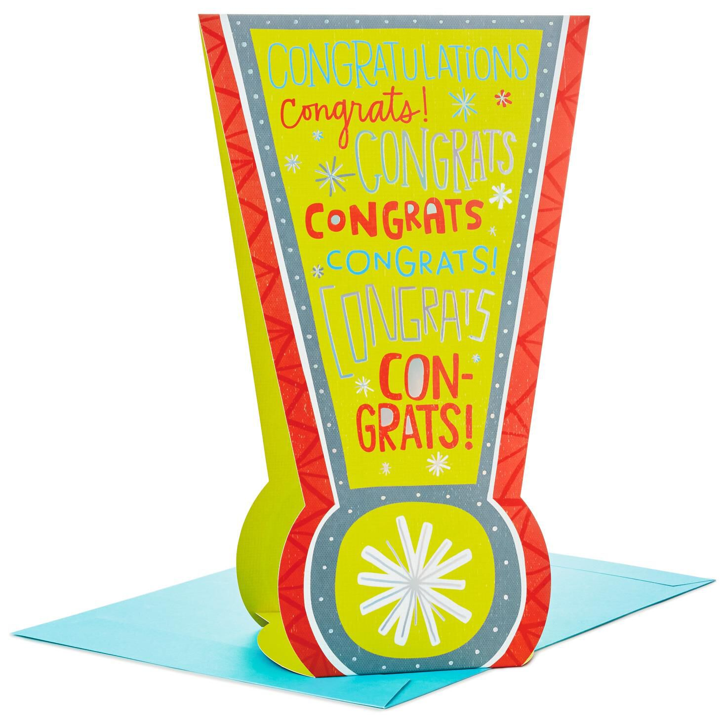 exclamation point stand up jumbo congratulations card 16