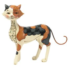 Jim Shore® Callie the Walking Calico Cat Figurine, , large