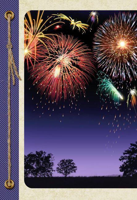 fireworks blank congratulations card