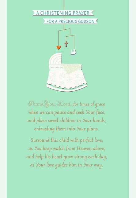 Bassinet godson christening card greeting cards hallmark bassinet godson christening card m4hsunfo