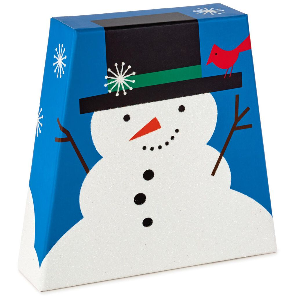 Snowman and Cardinal Christmas Cards With Decorated Storage Box, Box ...