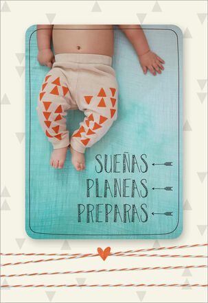 Dreams, Plans, Preparations Spanish-Language New Baby Card