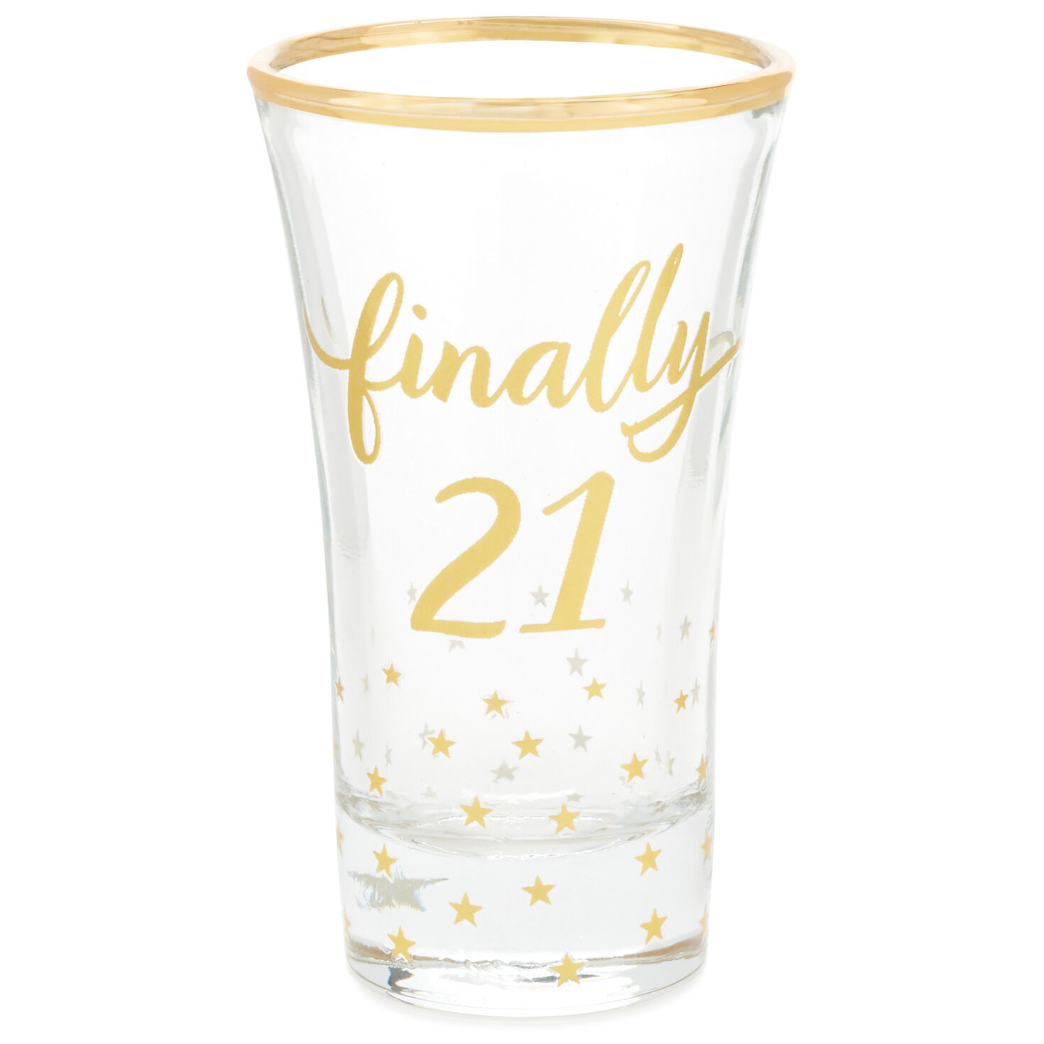 Engraved Personalized Finally 21 Shot Glass