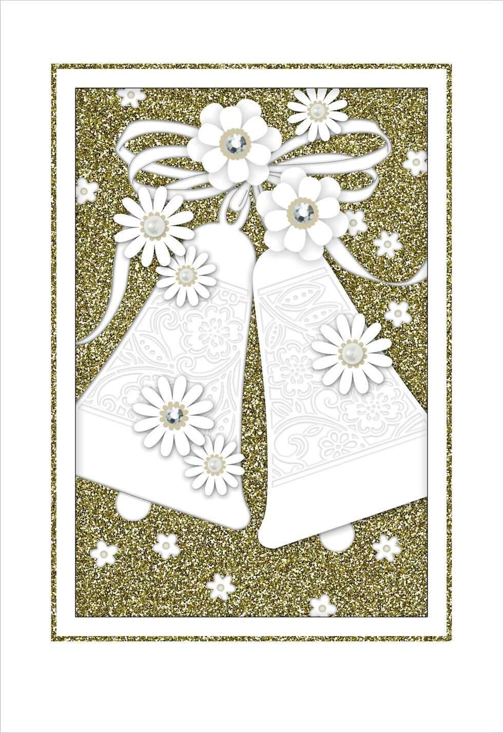 vintage bells wedding card  greeting cards  hallmark