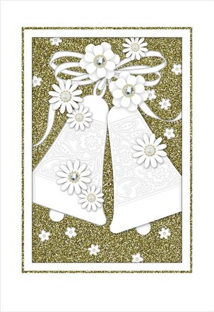 Vintage Bells Wedding Card