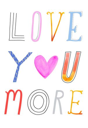 Love You More and More Valentine's Day Card