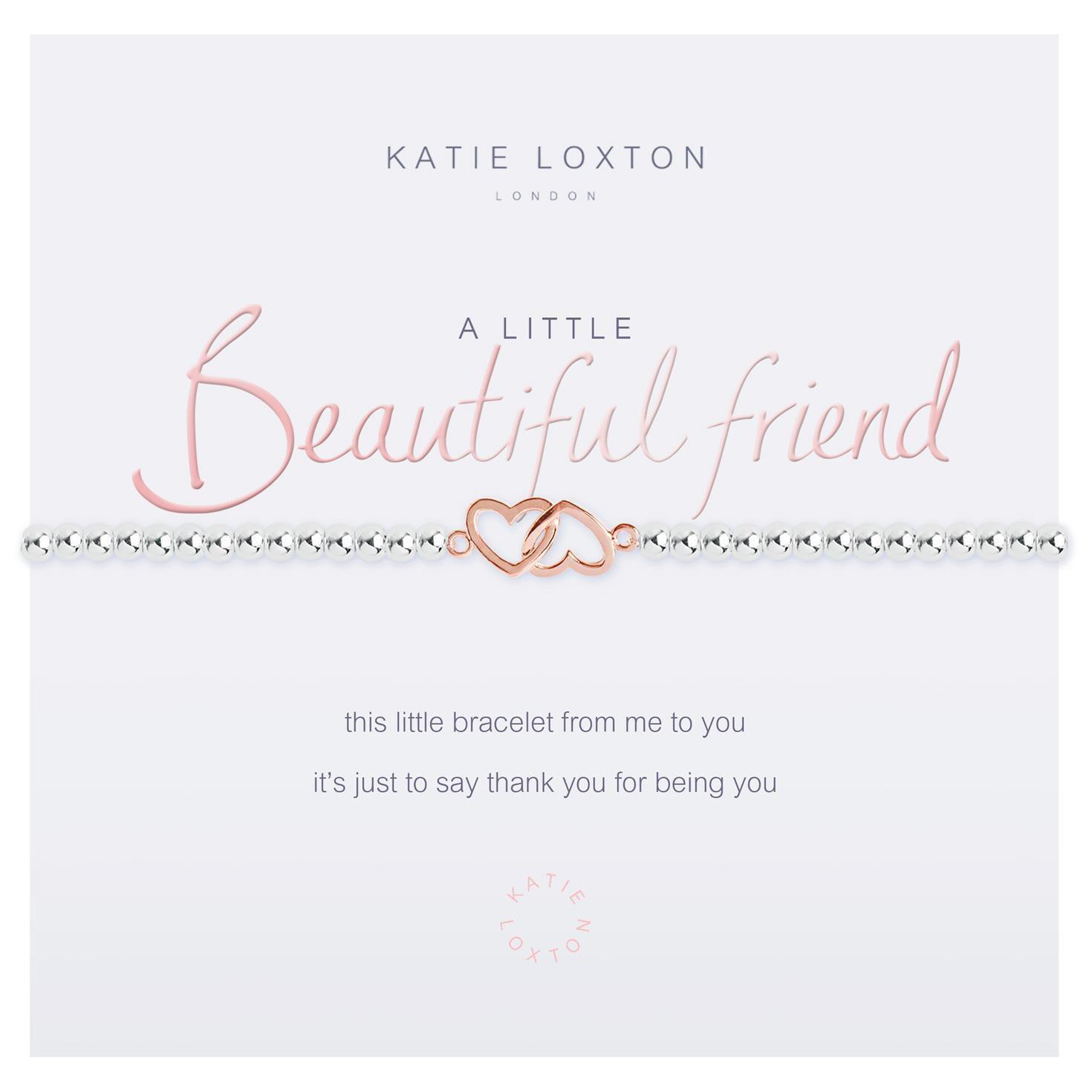 581053bd328f1 Katie Loxton A Little Beautiful Friend Silver Bracelet
