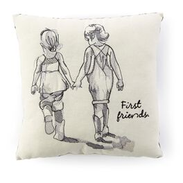 First Friends Sisters Embroidered 10x10 Pillow, , large