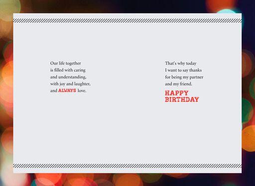 Bright Lights Romantic Birthday Card,
