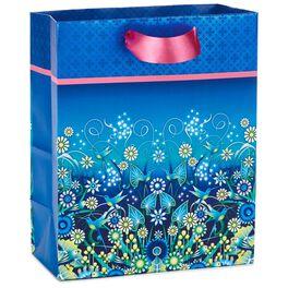 "Catalina Estrada Blue Hummingbirds Medium Gift Bag, 9.5"", , large"