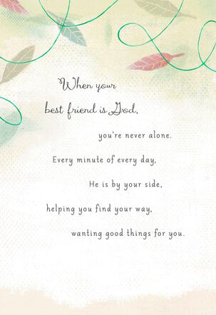 You Have a Best Friend in God Religious Encouragement Card