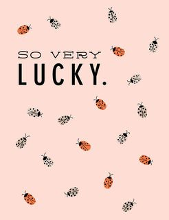 Lucky Ladybugs Thank-You Card,