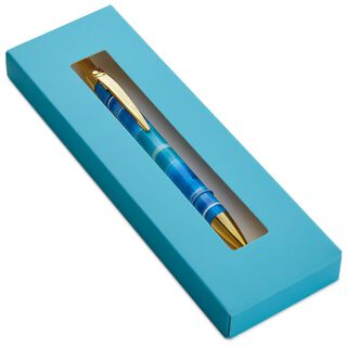 Watercolor Blooms Stripe Pen,