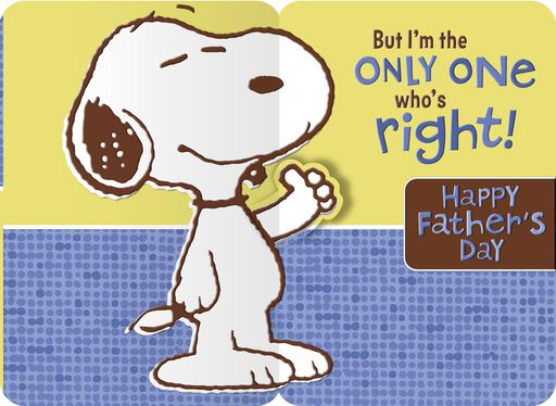 Peanuts® Snoopy Pop Up Father's Day Card for Grandpa,