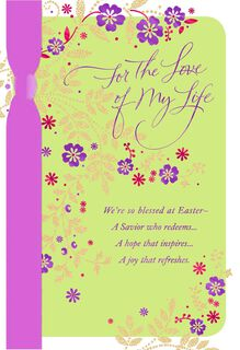 For the Love of My Life Religious Easter Card,