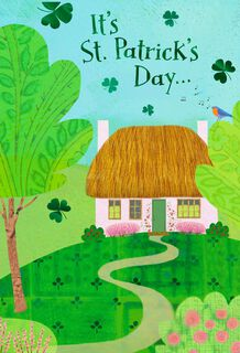 Pink Cottage St. Patrick's Day Cards, Pack of 6,
