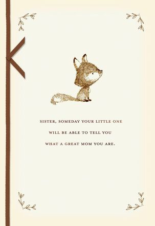 Baby Fox Mother's Day Card for Sister