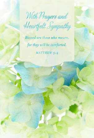 Religious Sympathy Cards, Pack of 10