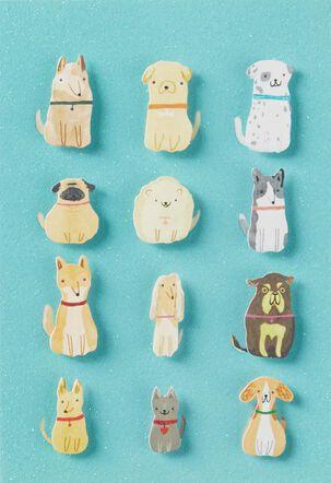 A Dozen Dogs Blank Card