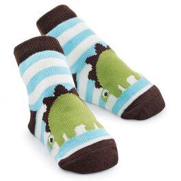 Mud Pie® Striped Dino Socks, , large