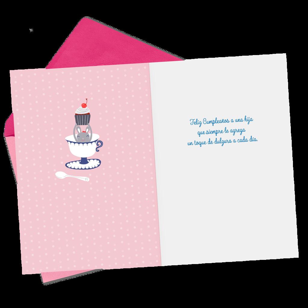 Extra Sweetness Spanish Language Birthday Card For Daughter