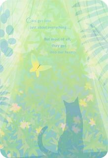 Cat and Butterfly Loss of Pet Card,
