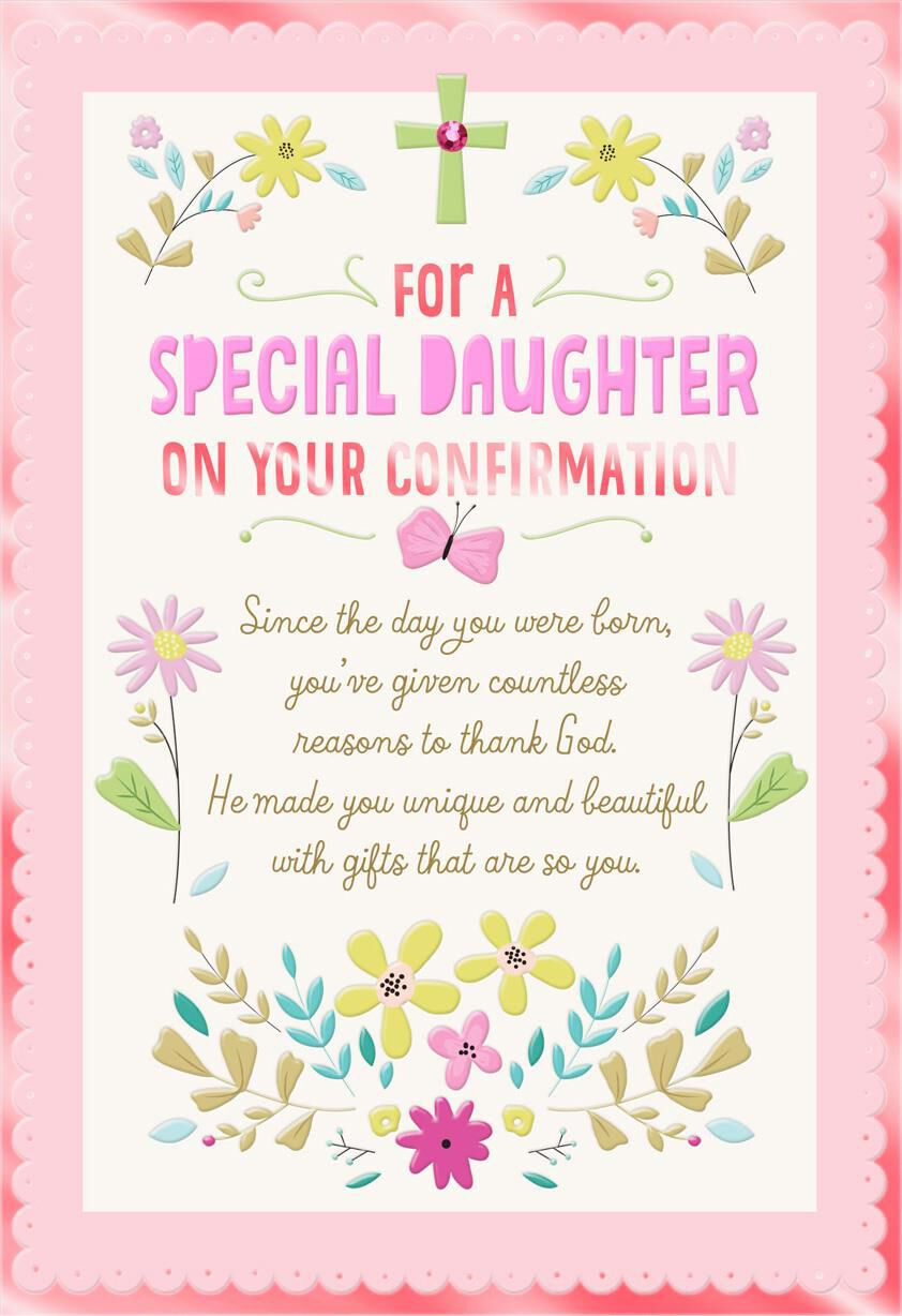 Thanking God For You Confirmation Card For Daughter Greeting Cards
