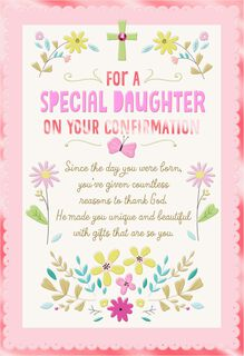 Thanking God For You Confirmation Card for Daughter,