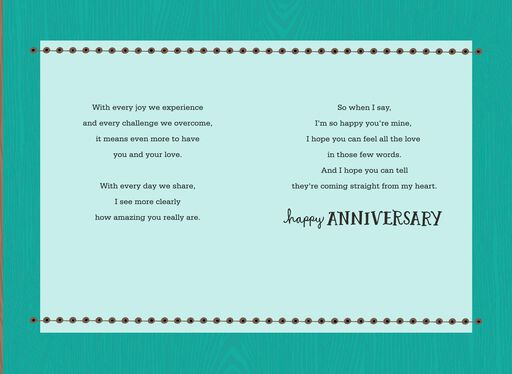 Straight from the Heart Husband Anniversary Card,