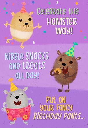 Celebrate the Hamster Way Musical Birthday Card