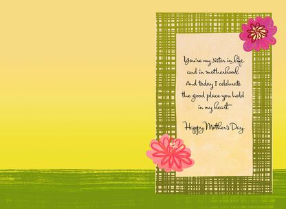 Sister In Life And Motherhood Mothers Day Card