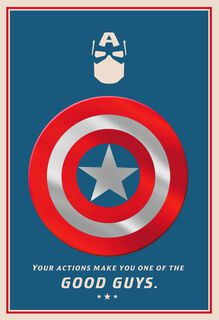 Marvel Captain America One of the Good Guys Father's Day Card,